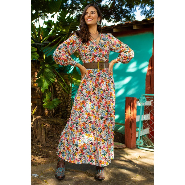 Vestido colombiano linda de morrer