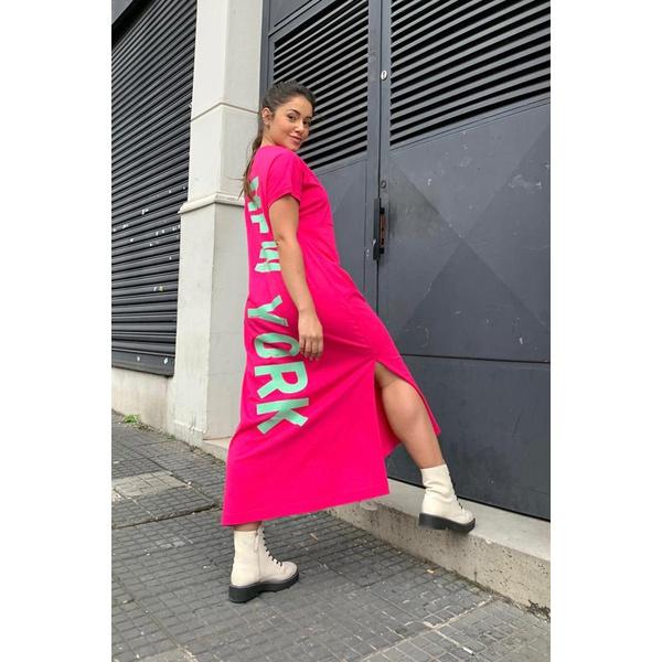 Vestido Salgunamu New York rosa