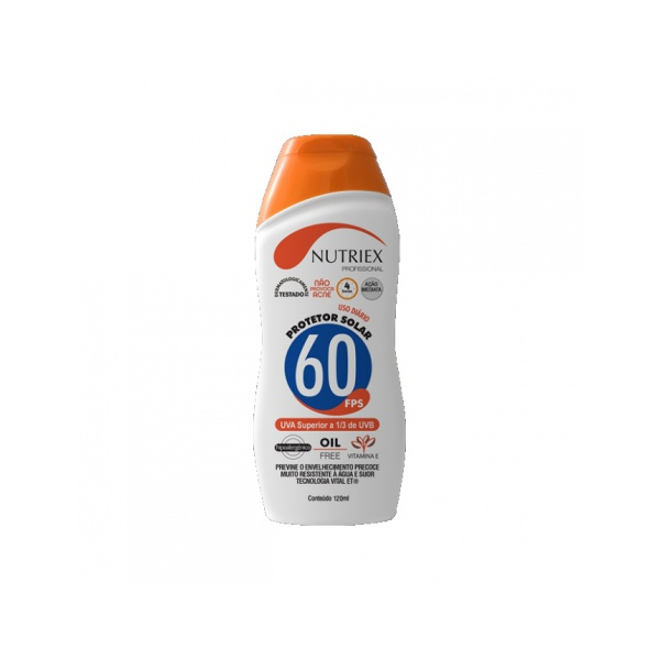 Protetor Solar FPS 60 120Ml 1/3 UVA Nutriex