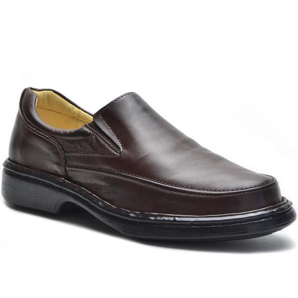 Sapato Masculino Conforto Café