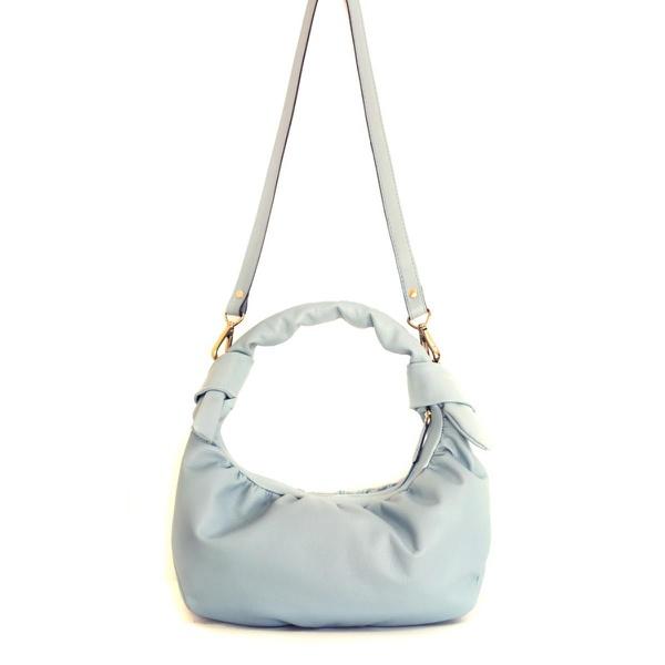 Bolsa feminina Poucelle em Couro bovino cor Azul Bebê
