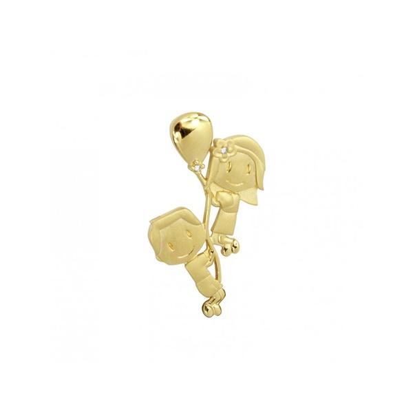 Pingente Casal Balão em Ouro 18K