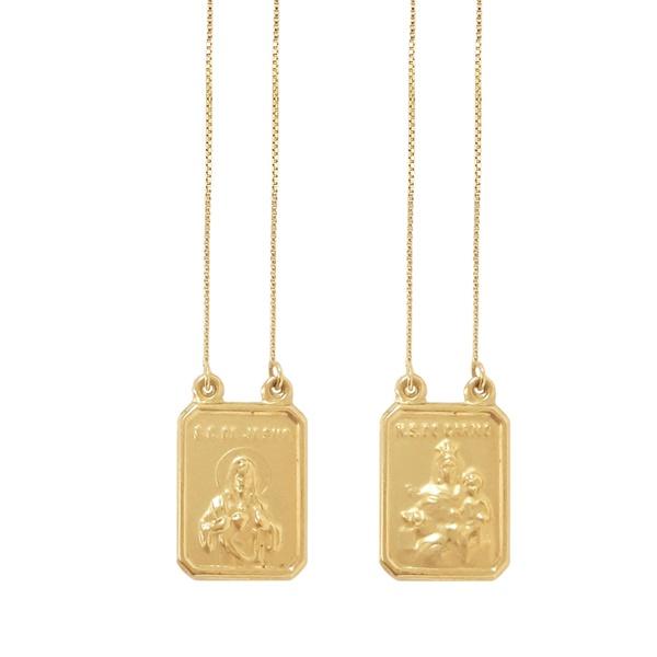 Escapulário Ouro 18k Simples 60cm 3.40 gramas