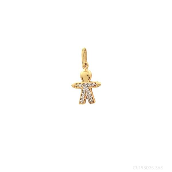 Pingente Menino Pequeno com Diamantes