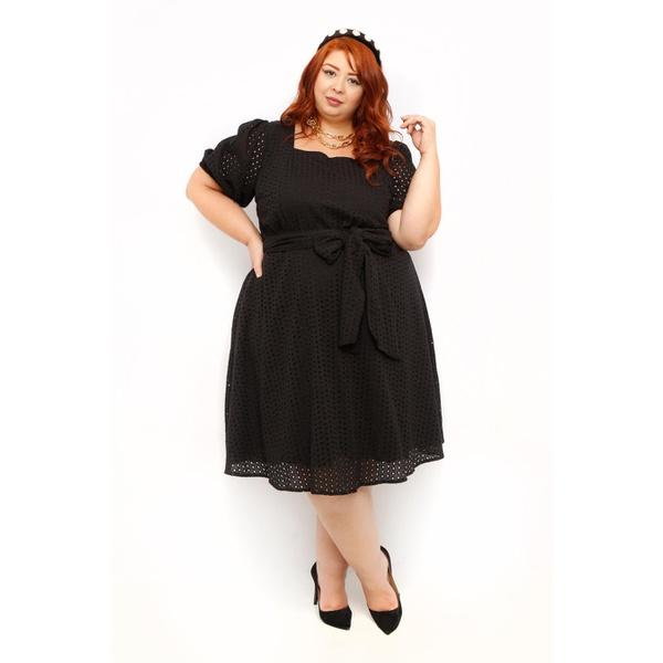 Vestido Laise Preto - Plus Size