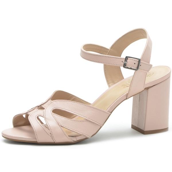 Sandália Feminina Der shoes Em Couro Legitimo Tulip Rose