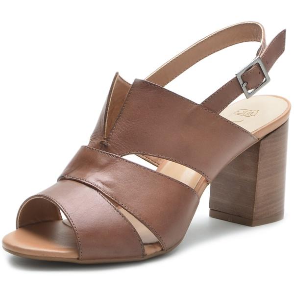 Sandália Feminina DeR Shoes Em Couro Legítimo Daisy Whisky
