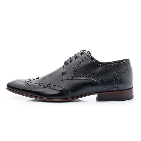 Sapato Social Oxford Masculino Biggioni-Couro-Preto