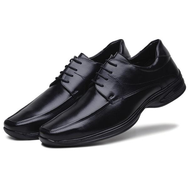 Sapato Social Masculino em Couro Ecologico Preto