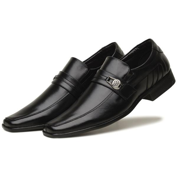 Sapato Social Masculino Em Couro Tecnológico Preto