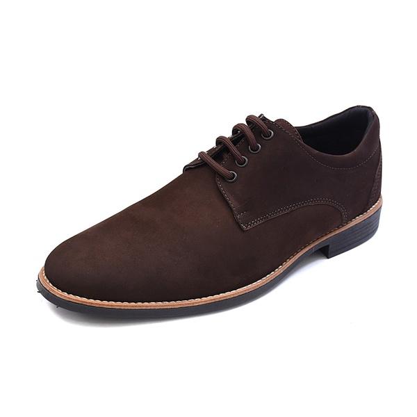 Sapato Casual Masculino D&R Shoes em Couro Nobuck Café