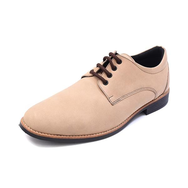 Sapato Casual Masculino D&R Shoes em Couro Nobuck Marfim