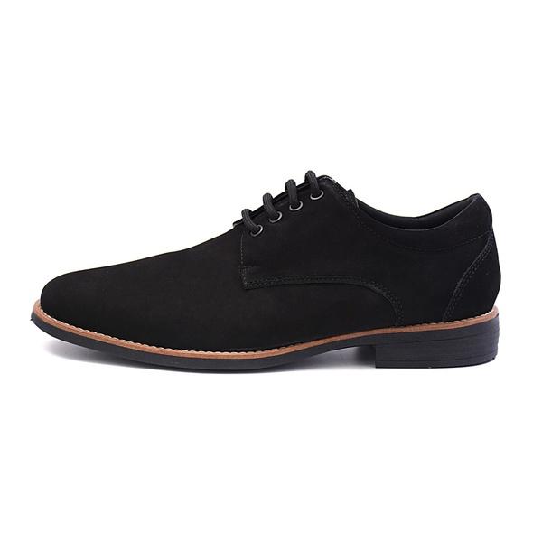 Sapato Casual Masculino D&R Shoes em Couro Nobuck Preto
