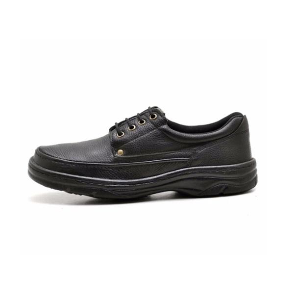 Sapato Masculino Conforto Em Couro Preto