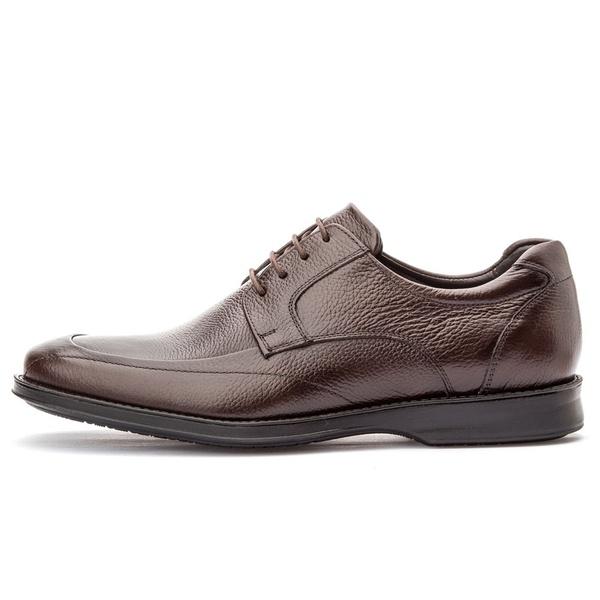 Sapato Social Masculino Conforto Em Couro Legítimo Café