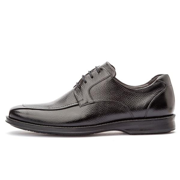 Sapato Social Masculino Conforto Em Couro Legítimo Preto