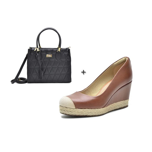 Kit Sapato Feminino DeR Shoes Em Couro Legítimo Day By day Whisky