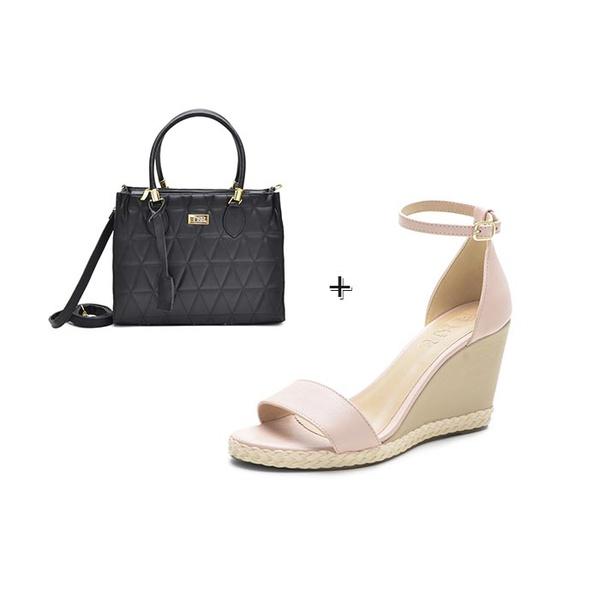 kit Sandália Feminina DeR Shoes Em Couro Legítimo Orchids Rose