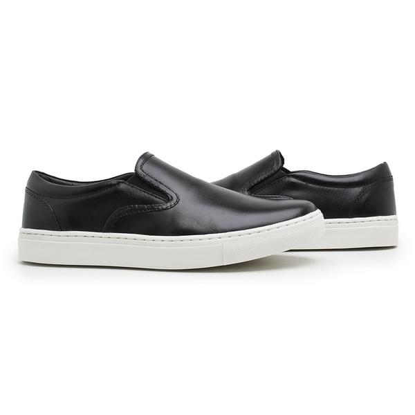 Sapato Slip On Masculino Couro preto