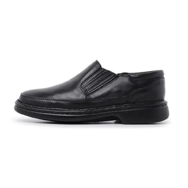 Sapato Masculino Conforto em Couro Carneiro Legitimo Luflex Preto