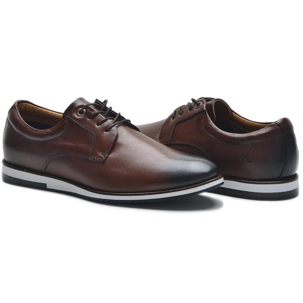 Sapato Casual Masculino Megane NV Couro Legitimo Conhaque