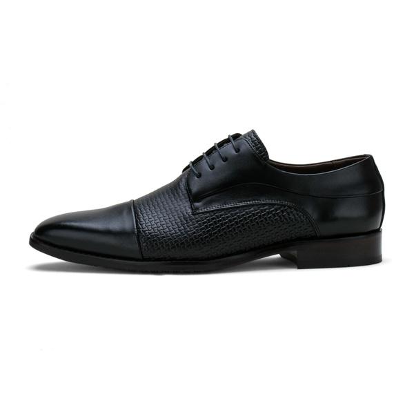 Sapato Social Masculino Stable Texturizado em Couro Legitimo Preto