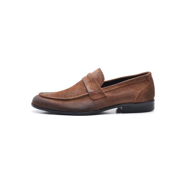 Sapato Casual Masculino em Couro Camurça Castor