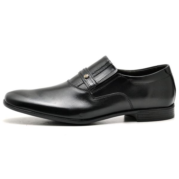 Sapato Social Masculino em Couro Legitimo Soft Preto