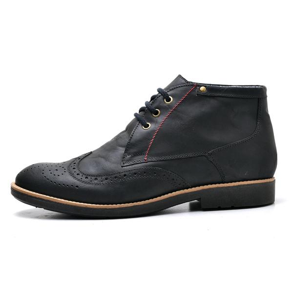 Sapato Oxford Masculino em Couro Legitimo Fossil Preto
