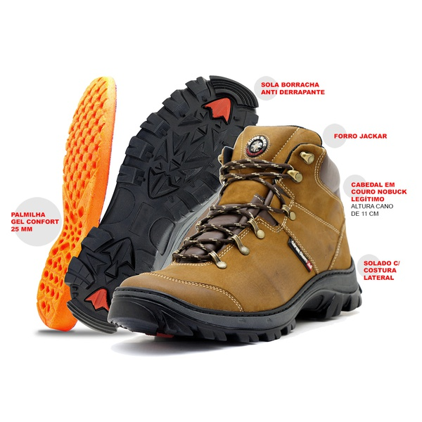 Bota Adventure Couro Atron Shoes - 259 - Castor