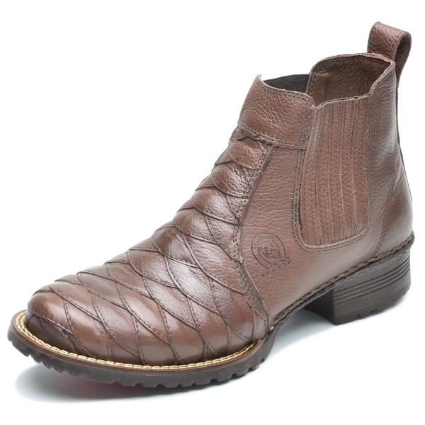 Bota Country Couro Escamado Cla Cle - 033-s - Chocolate