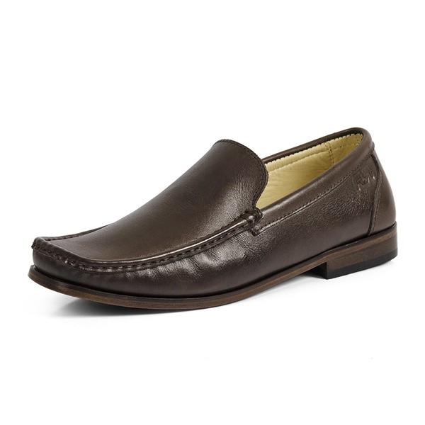 Mocassim Loafer Masculino Couro Legítimo Soft Leather Exclusive Reverso - 1900 - Café