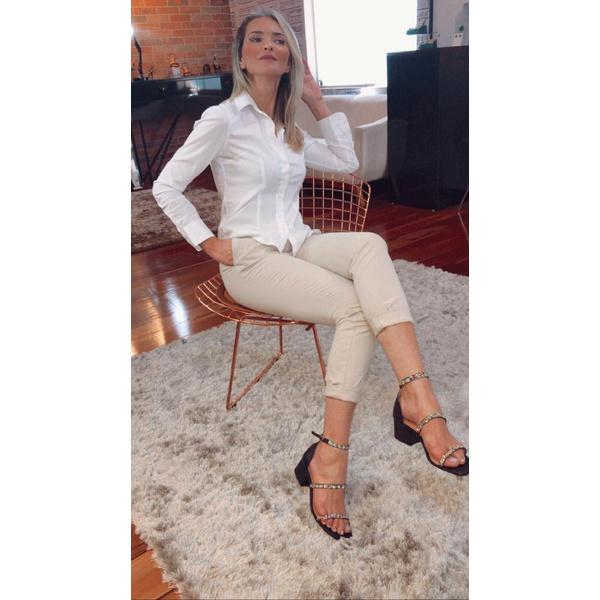 Sandália Preta com Aplicações - Luiza Barcelos
