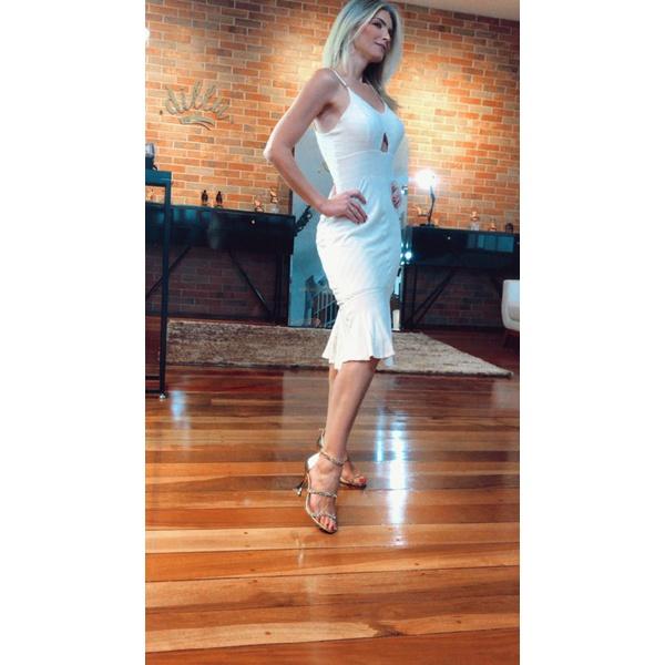 Sandália Dourada com Aplicações Dourada - Luiza Barcelos