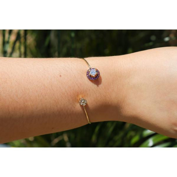 Bracelete Flowers NO Banho de Ouro 18k