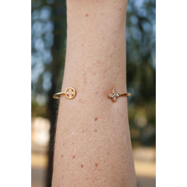 Bracelete No Banho de Ouro 18K