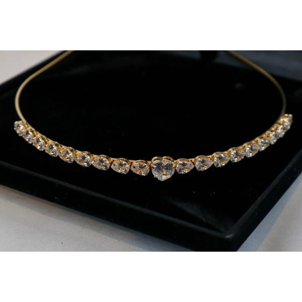 Tiara Princess Colors Dillu Gotas E um Coração no Banho de Ouro 18k