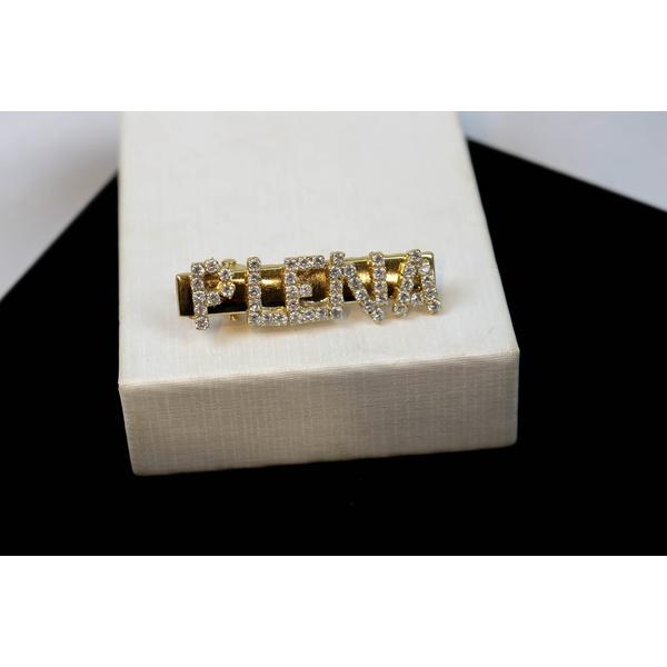 Presilha de Cabelo PLENA Cravejada Cristal no Banho de Ouro 18k