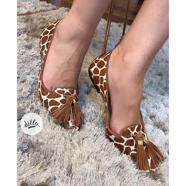 Sapatilha Girafa Luiza Barcelos Salerno Caramelo