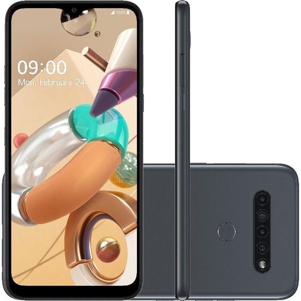 Smartphone LG K41s 32GB 4G Wi-Fi Tela 6.5'' Dual Chip 3GB RAM Câmera Quádrupla + Selfie 8MP - Titânio
