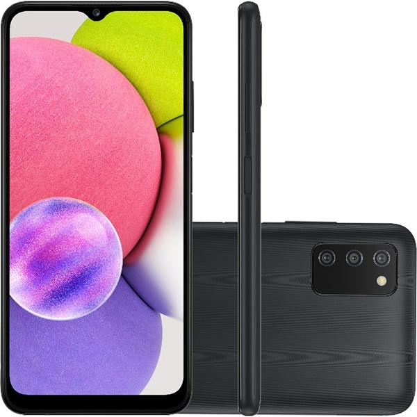 Smartphone Samsung Galaxy A03s 64GB 4G Dual Chip 4GB RAM - Preto