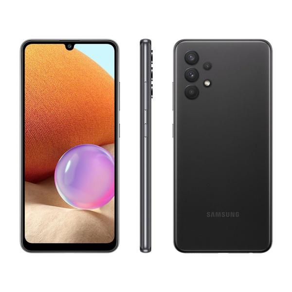 """Smartphone Samsung Galaxy A32 128GB Preto 4G - 4GB RAM Tela 6,4"""""""