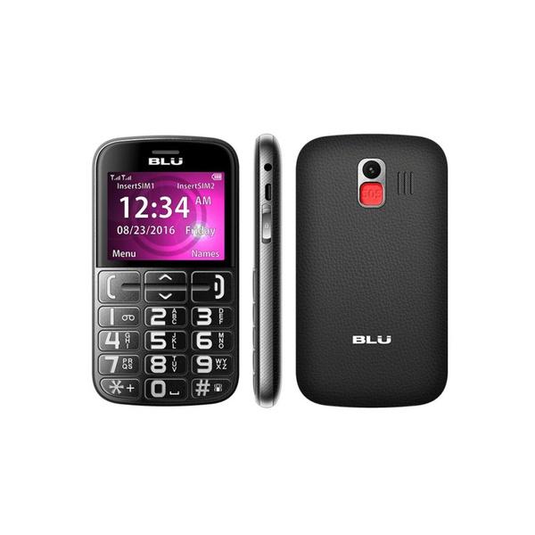 Celular Blu Joy 3G Dual Sim Tecla Sos Preto