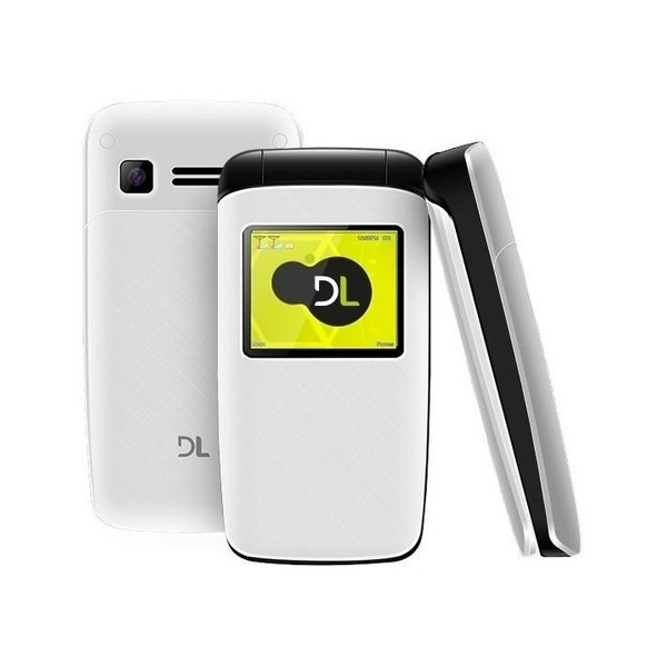 Celular DL YC-330 Branco - Dual chip Câmera Rádio FM