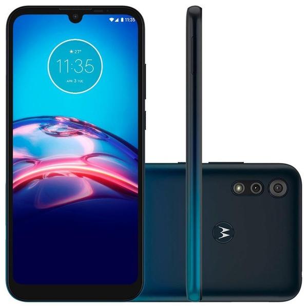"Smartphone Dual Moto e6s 64GB Android 9 Tela 6.1"" XT2053-2 Azul Navy - Motorola"