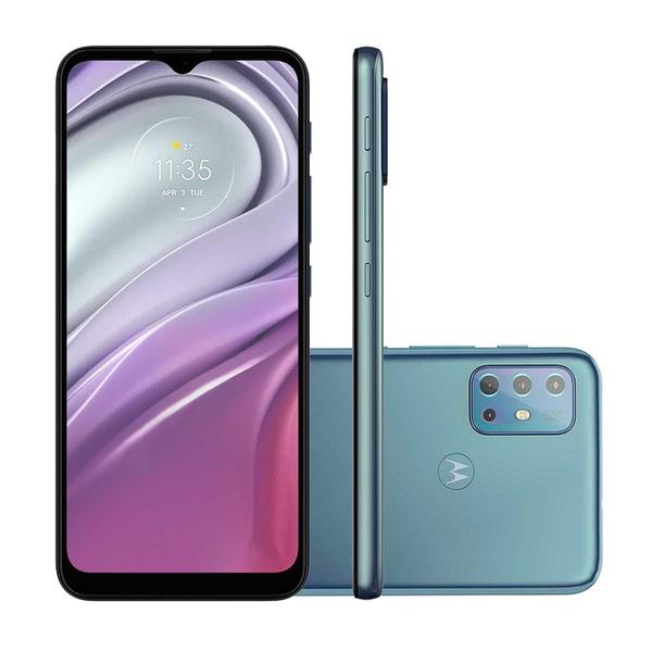 """Smartphone Motorola Moto G20 Azul 64GB, 4GB RAM, Tela de 6.5"""", Câmera Traseira Quádrupla, Android 11 e Processador Octa Core"""
