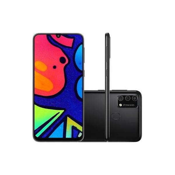 """Smartphone Samsung Galaxy M21s 64GB, 4GB RAM, Tela Infinita de 6.4"""", Câmera Traseira Tripla - Preto"""