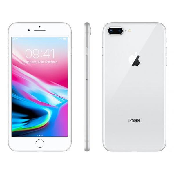 "iPhone 8 Plus Prata 256gb-bra Tela 5.5"" IOS 11 4G Wi-Fi Câmera 12MP - Apple"