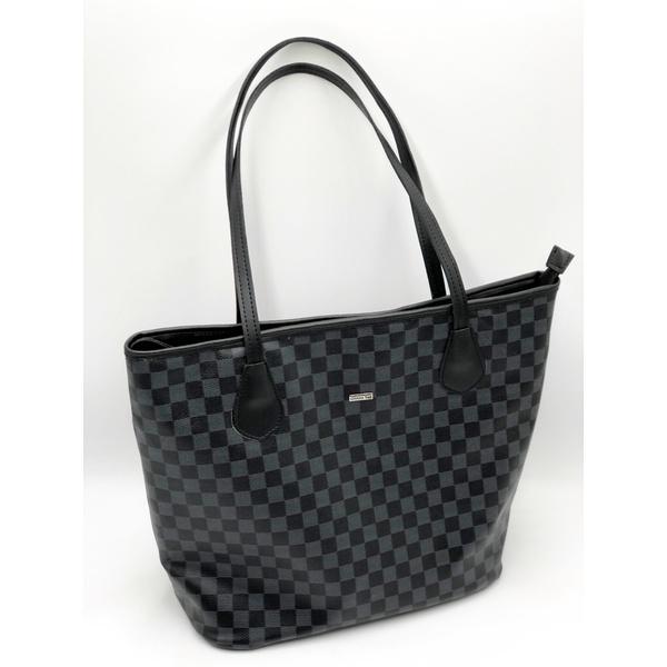 Shopping Bag Xadrez Preto