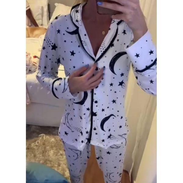 Pijama Nah Branco Lua